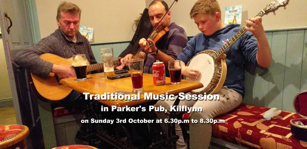 Trad session at Parkers Pub